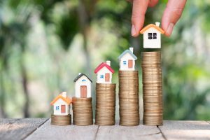 Advance-Finance-Group Property Investing image of houses on coins